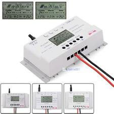 LCD 10/20/30/40A 12V/24V MPPT Solar Panel Regulator Charge Controller 3 Timer KJ