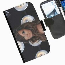 Demi Lovato Leather wallet personalised phone case for HTC1