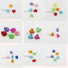Pretty Mixed Colorful Acrylic Charms European Beads For Beading Jewelry Crafts D