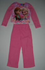 DISNEY FROZEN ANNA & ELSA GIRLS PINK FLANNEL PAJAMAS 2 PC SLEEPWEAR SIZE 4/5 NWT