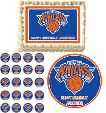 NY New York Knicks Edible Birthday Cake Cupcake Toppers Party Decorations Images