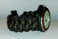 PIRANHA PARACORD SURVIVAL WATCH BAND - YOU CHOOSE COLOR/S & SIZE