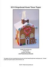 Gingerbread House Tissue Topper-Christmas-Plastic Canvas Pattern or Kit