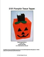 Halloween Pumpkin Tissue Topper-Jack O' Lantern-Plastic Canvas Pattern or Kit
