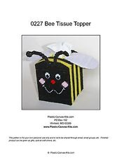 Bee Tissue Topper-Plastic Canvas Pattern or Kit