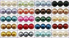 100 or 200 Glass Pearl Beads - 6mm Round - Choose Colour