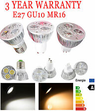 9W Dimmable LED E27 GU10 MR16  High Power LED Spotlight Bulb Lamp Light