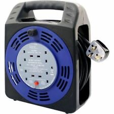 4 WAY 5M 10M 25M CABLE EXTENSION REEL LEAD MAINS SOCKET HEAVY DUTY ELECTRICAL
