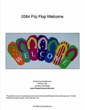 Flip Flop Welcome Sign- Plastic Canvas Pattern or Kit