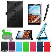 Leather Case Cover + Screen Protector For Verizon Ellipsis 8 4G LTE Tablet