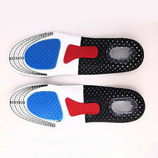 Unisex Silicone Gel Shoe Sprot Insoles Foot Care Comfort Pain Relief Women Men