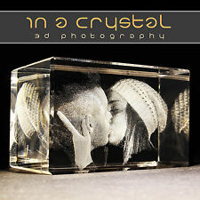 3D Photo Crystals // PERSONALISED 3D LASER ENGRAVED CRYSTAL // 1 Day Dispatch !!