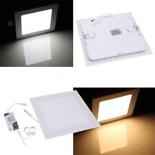 18W Square LED Recessed Ceiling Panel Light Lamp for Bathroom Kitchen AC85-265V