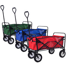 Folding Collapsible Utility Wagon Cart Shopping Sports Garden Beach Three Colors
