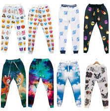 Hiphop Casual 3D EMOJI Jewelry Space Galaxy Animal Sprot Jogger Pants men women