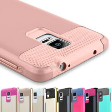 New Hybrid Rugged Rubber Protective Hard Case Cover For Samsung Galaxy Note 4