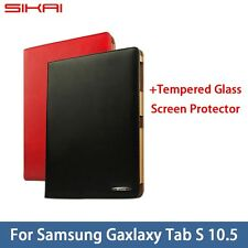 Promotion Genuine Leather Tablet Case Cover For Samsung Galaxy Tab S 10.5 T800