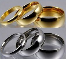 Size 5-12 Stainless Steel Ring 4MM 6MM 8MM Band Plain Classic Wedding School Boy