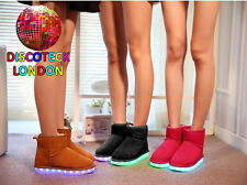 WOMENS LADIES LED FLASHING LIGHT UP WARM TOPSHOP X FACTOR ANKLE BOOTS SHOES SIZE