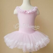 Pink Toddler Girls Ballet Tutu Dance Party Dress Kids Leotard Skirt 3-8Y Costume