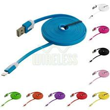 6 FT Noodle Flat Sync USB Data Charger Cable Cord 6FT for iPhone 5S 5 5C 6