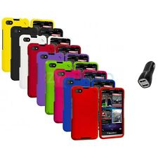 For Blackberry Z30 Hard Matte Snap-On Color Case Cover 2.1A Charger