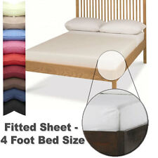 FITTED SHEET - 4 Foot - Small Double Size - In 26 Colours - Autumn Nights