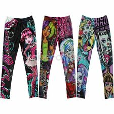 MONSTER HIGH Girls Kids Skinny Leggings Pencil Pants Trousers Clothes Size 6-16