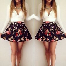 Pop Sexy Women Floral Evening Bandage Party Ball Gown Formal Cocktail Mini Dress
