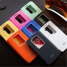 Luxury Quick Window View Flip Case Cover for LG Optimus G2 D802 New Reliable
