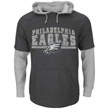Majestic Philadelphia Eagles Crucial Call III 2-For-1 Thermal Hoodie Shirt