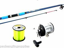 Lineaeffe Beachcaster rod 12ft  & Sea Captain Multiplier Fishing  Reel & line