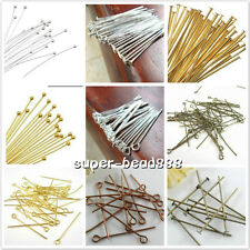100pcs Metal Head/Eye ball Pins Finding 18mm-70mm Gauge Any Size To Choose Free