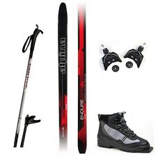 NEW ALPINA ENDURE XC cross country 75mm SKIS & BINDINGS & BOOTS & POLES - 180cm
