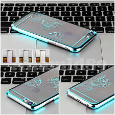 """New Chrome Clear Hard Back Case Cover For Apple iPhone 6 (4.7"""") Screen Protector"""