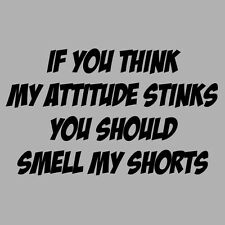 If You Think My Attitude Stinks Smell My Shorts Funny T-Shirt All Colours to 5XL