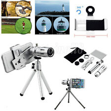 12X Zoom Camera Telephoto Telescope Lens+Mount Tripod For Cell Phone Smart Phone