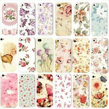 Cute Design Flower Pattern Fashion Hard Back Case Cover For Apple iphone 5 5S