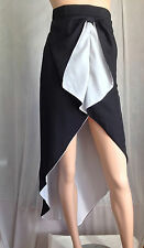 Black and white skirt long and short sexy tuxedo cocktail style unique design