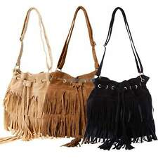 Fashion Women Tassel Suede Fringe Shoulder Messenger Handbag Cross Body Bag Sexy