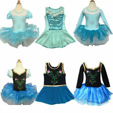 Girls Gymnastics Leotard Ballet Tutu Dance Dress 3-12Y Kid Chiffon Skating Skirt