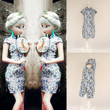 Kid Child Girl's Baby Summer Floral Cotton Cheongsam Dress / Qipao for 3-8 Year