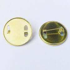 25mm diameter round metal pin badge with aluminium insert for dye sublimation