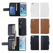 New Card Holder Flip Wallet Leather Case Cover For Samsung Galaxy / Apple iPhone