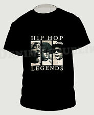 HIP HOP LEGENDS 2PAC B.I.G & EAZY-E Black T-Shirt Hip Hop Rapper PAC New Tee