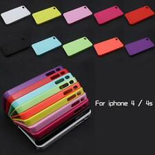New DIY Deco Candy Color Hard Back Plastic Case Cover Skin For Apple iPhone 4 4S
