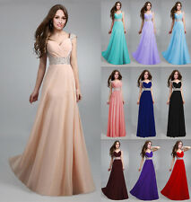 1 Wedding Bridesmaid Beaded Cocktail Party Prom Gowns Formal Evening Long Dress