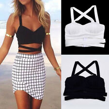 New Fashion Women Padded Bra Tank Tops Bustier Bra Vest Crop Top Bralette Blouse