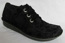 BNIB Clarks Ladies Funny Dream Black Fabric Lace Up Shoes