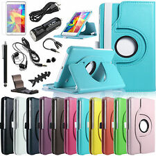 """For Samsung Galaxy Tab 4 7.0 7""""Inch SM-T230 Tablet Folio Case Stand Cover Bundle"""